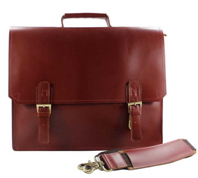 High class portfolio men leather briefcase men genuine leather Messenger bag  14