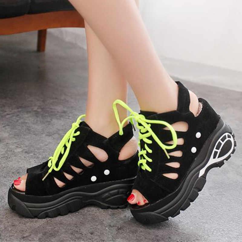 Новинка; Летняя женская обувь для отдыха с открытым носком; высокая проницаемость; женские босоножки с губкой