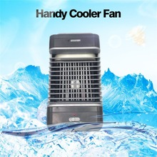 Hot Portable Size Household Office Use Handy Air Cooler Portable Size Table Desktop Fan Cooler Air Conditioning Cooler Fan Gift