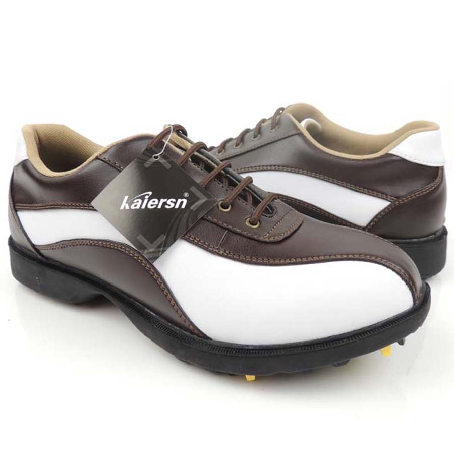 ФОТО Men's golf shoes male anti-slip sports shoes men leather athletic shoes sneakers NO:K4
