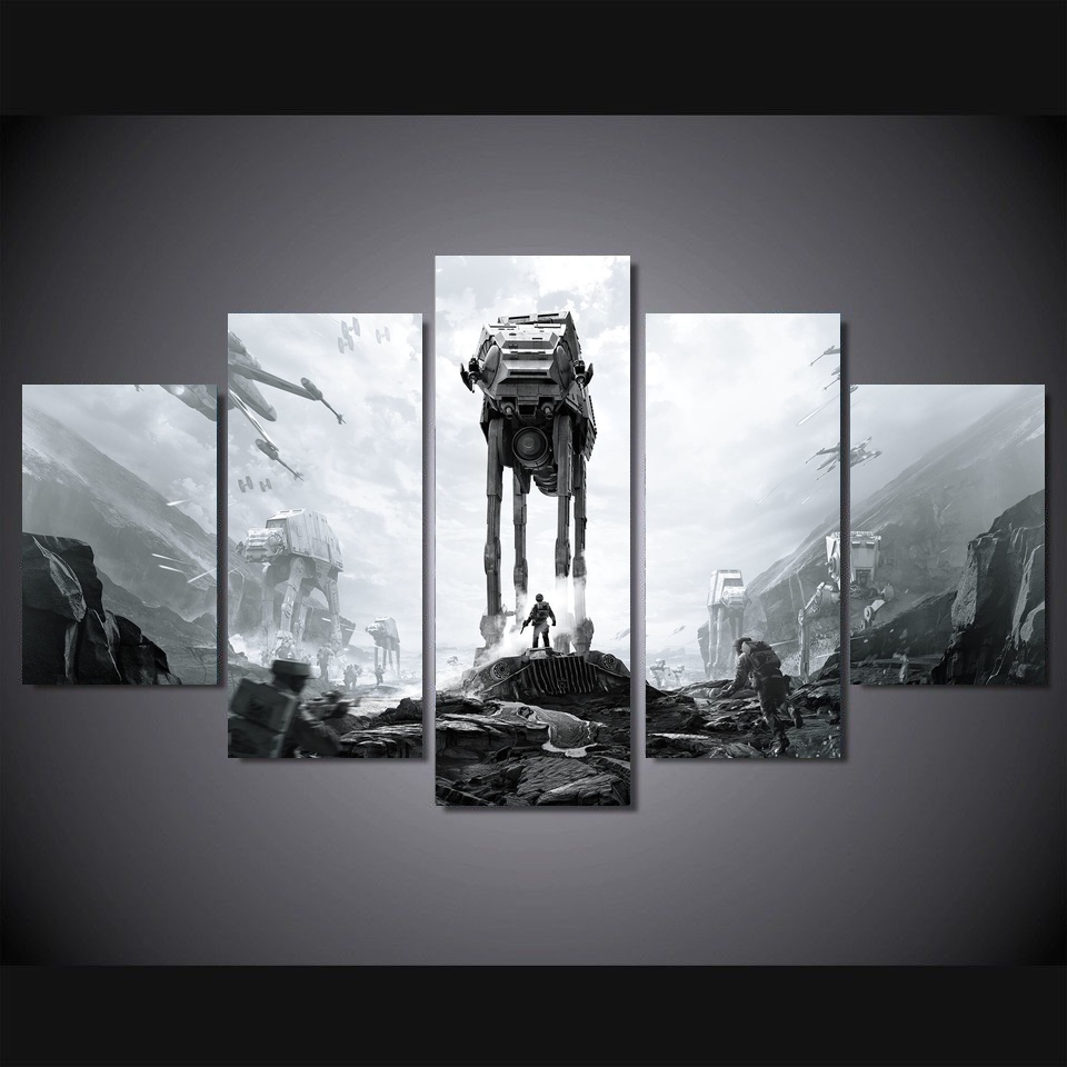 5 Pieces Star Wars Battlefront Ea Dice Art Art Modern Home Decor Canvas Art Print HD Pai ...