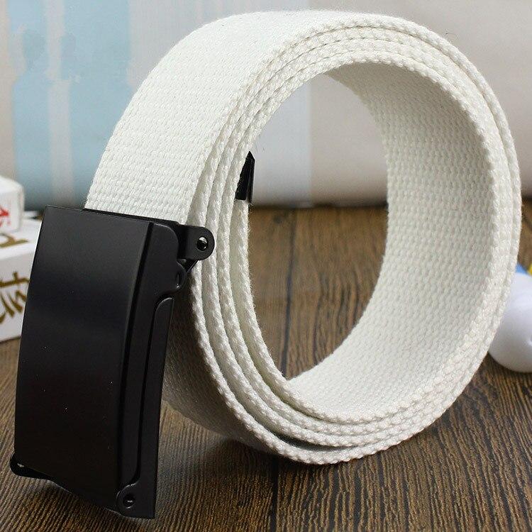 2018 Canvas   Belt   Casual Pants Cool Wild Gift for Men women   Belt   Men's Canvas   Belt   Metal Tactics Woven   Belt