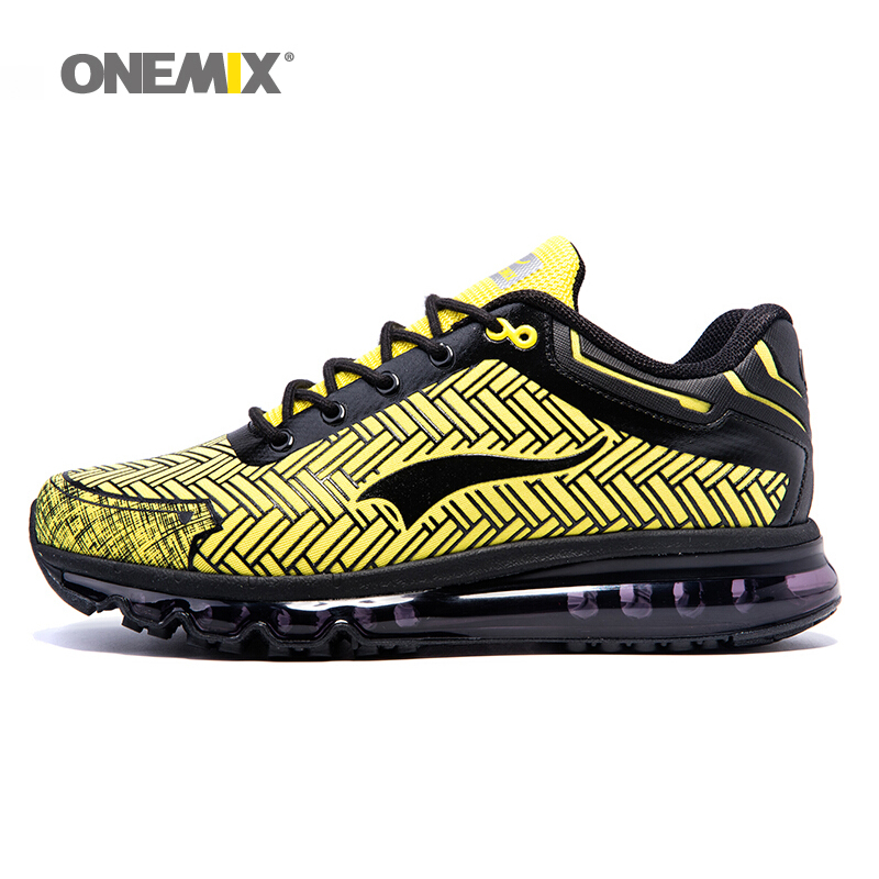 2017 onemix air cushion sport men's Shoes  lace-up athletic Sneakers light breathable walking shoes