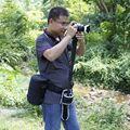Câmera fotografia multifuncional Cinto Cintura Cinto com para Tripé Saco Triângulo Saco Da Câmera Saco Lente Fotografia Ao Ar Livre