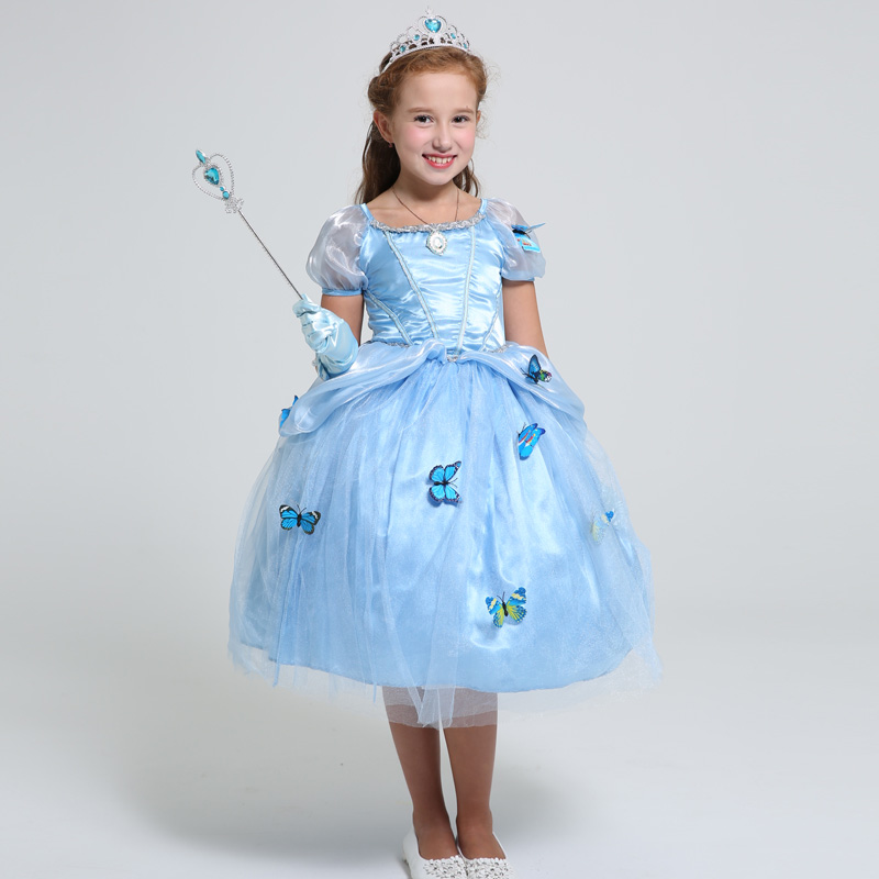 New Baby Girls Sophia Dress Children Cinderella Princess Dresses Kids Party Costume Clothes Girls Ball Gown Dress Rapunzel Dress high quality aluminum canvas black retractable cargo cover rear trunk security shade for bmw x5 e70 2008 2013