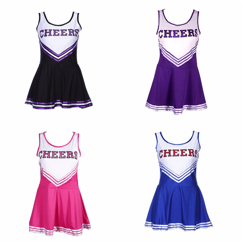 Football Cheerleader Large Size  2018n Sexy Costume Cheerleader Sexy Costume Girl Cheerleading Costume School Girls