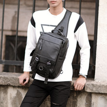 Tidog Korean Men Retro shoulder bag chest bag(China)