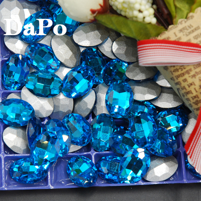 Aquamarine Color Pointback Fancy Stone Oval Rhinestones Glass Crystals For  Evening Jewelry Making DIY 4x6mm-20x30mm dbe65e05e7dc