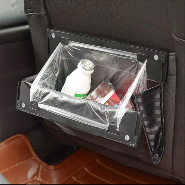 Foldable Car Organizer Seat Back Hanging Bag Trash Holder Bin
