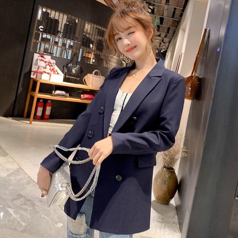 Casual Double Breasted Women Blazer Jacket Female Coat 1