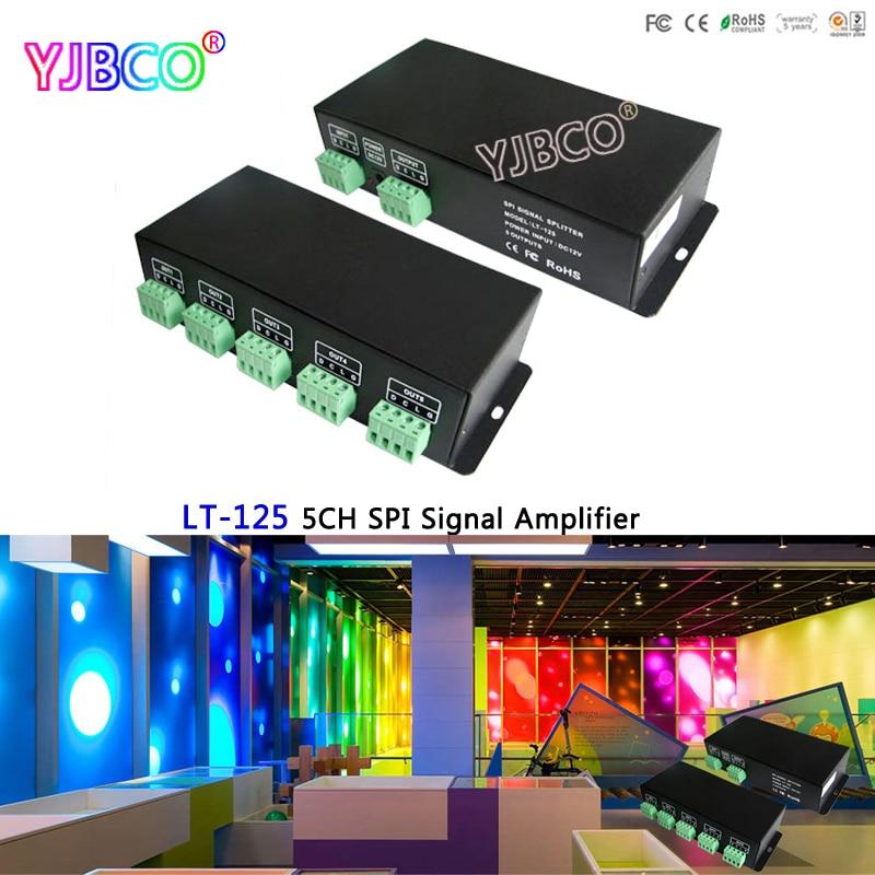 LTECH LT-125;5CH SPI Signal Amplifier;DC12V SPI(TTL) signal amplifier CH SPI Power Repeater use with all IC LED Strip Light