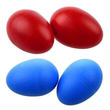 2 пары пластиковые перкуссия игрушка, музыкальное яйцо маракаса шейкеры красный и синий
