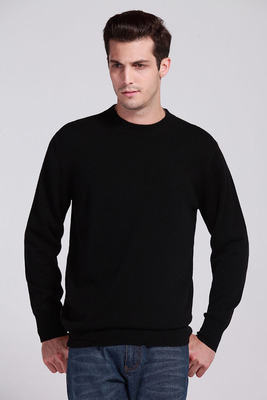 Mens Cashmere Sweater Mens Crewneck Wool Pullove.
