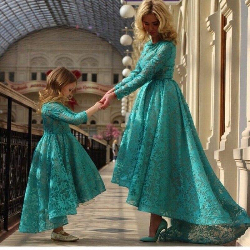 Green Dress Long Sleeves for Little Girl