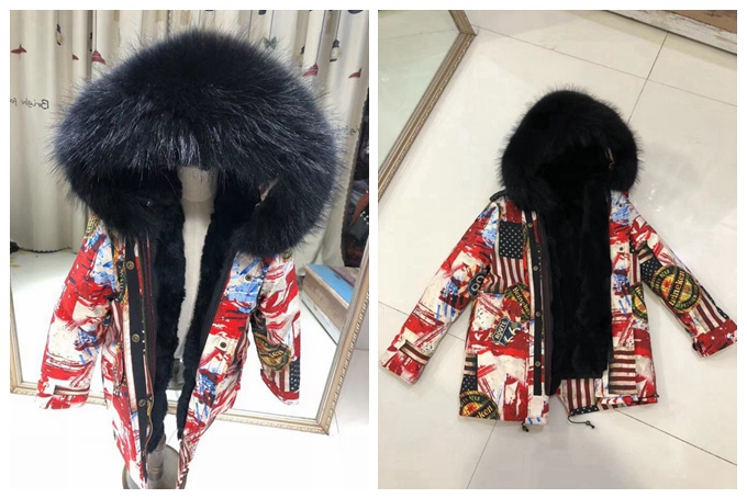 child winter real fur parkas coat (17)