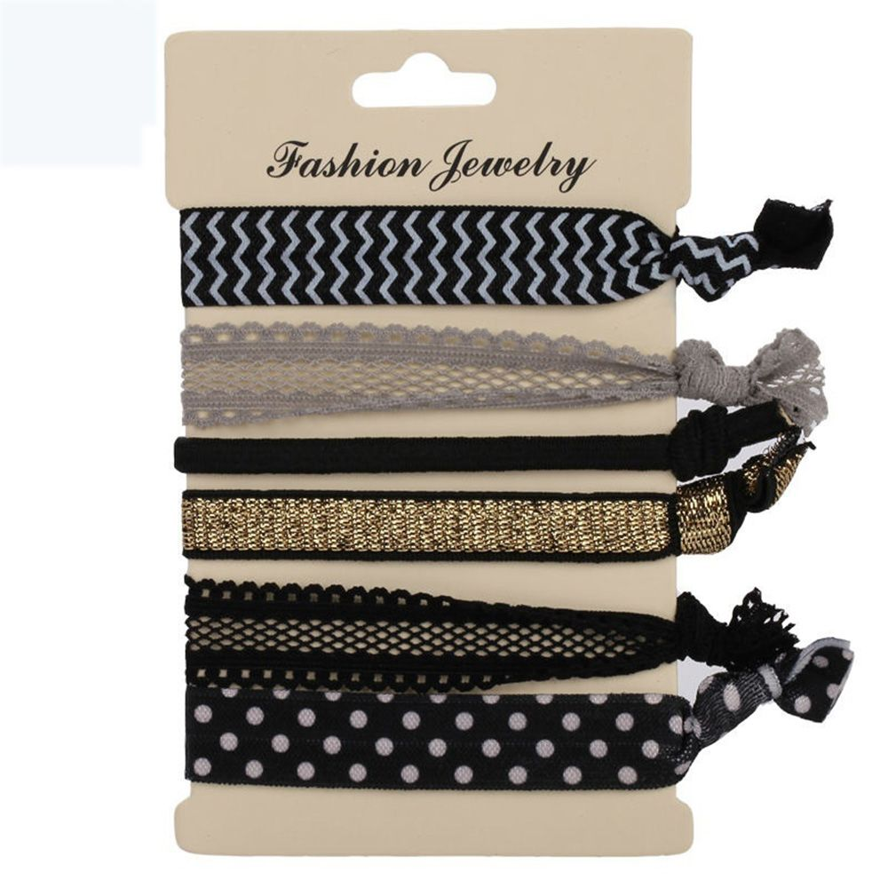 Hot Sale 6PCS/pack Elegant Pattern Colorful No Crease Hair