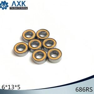 686RS Bearing 10PCS 6x13x5 mm ABEC-3 Hobby Electric RC Car Truck 686 RS 2RS Ball Bearings 686-2RS Orange Sealed(China)