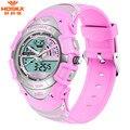 HOSKA Dual Display Wristwatches 2016 Women 50M Waterproof Digital Quartz Watch Men's Military Sports Watch Alarm Relogio HD011