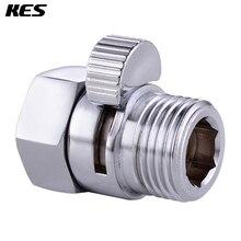 Предохранительный клапан для душа KES, Твердый латунный клапан для контроля воды, запорный клапан для биде, распылитель или душевая головка, полированный хром