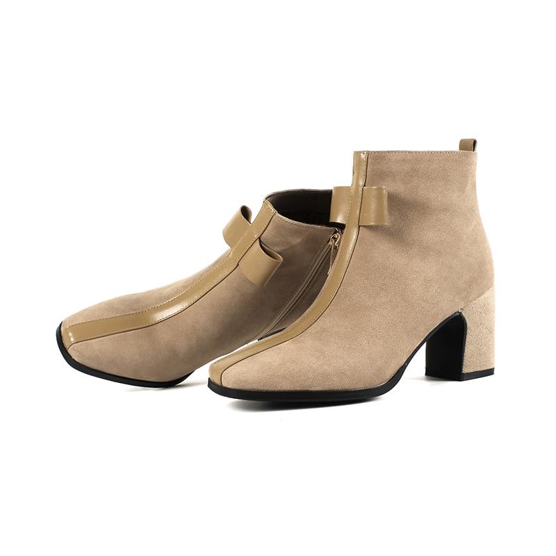 Grande 42 Talons Bottines Apricot Cm Noeud Taille 40 41 Papillon black Bottes 2019 Femmes Hiver De Zipper Chaussures Bowknot Épais Mode 7 q4xpH4