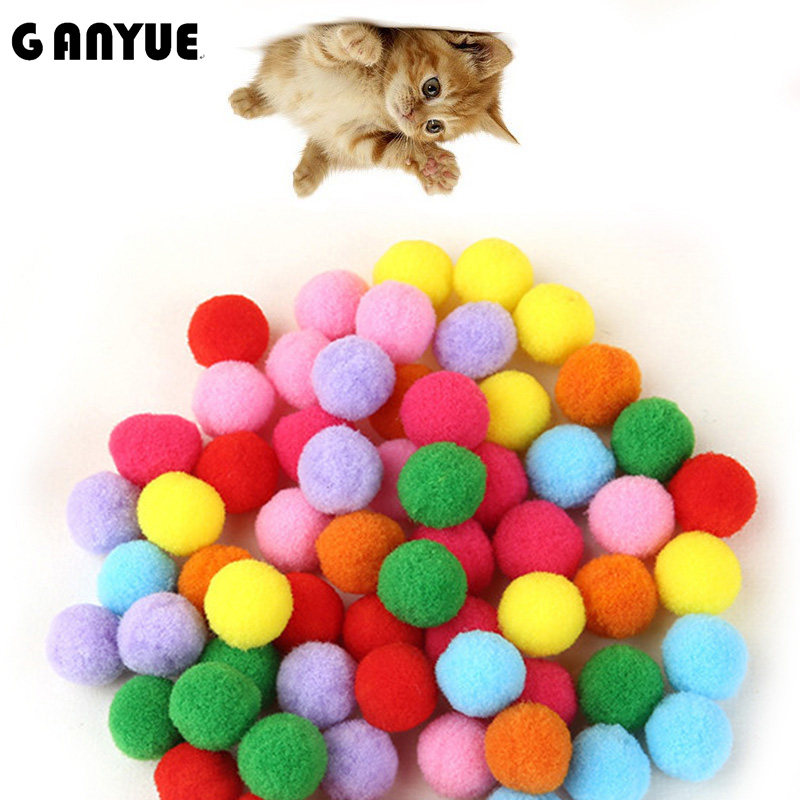 Ganyue 10 Piece/lot Soft Cat Toy Balls Kitten Toys Candy Color Assorted Ball Interactive Cat Toys Play Scratch Catch Pet Kitten