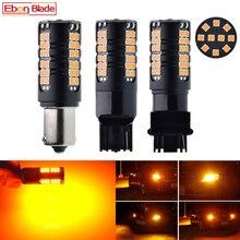 2X LED 車の電球 Can バスエラーなしハイパーウインカーライトアンバーオレンジ 1156 BA15S P21W BAU15S PY21W T20 7440 W21W WY21W 3156