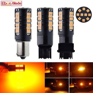 Image 1 - 2X LED Car Bulb Canbus No Error Hyper Flash Turn Signal Light Amber Orange 1156 BA15S P21W BAU15S PY21W T20 7440 W21W WY21W 3156