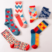 Colour font b men b font women crew cotton happy font b socks b font british