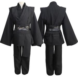 Image 4 - Star Wars Cosplay Costume Anakin Skywalker Replica Jedi Robe Fantasia Male Halloween Cosplay Jedi Costume For Men Plus Size 3XL