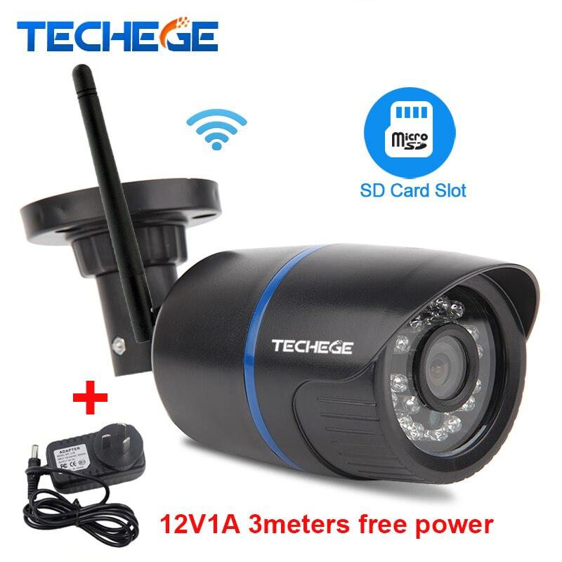 bilder für Techege 720 P WIFI Ip-kamera Wasserdichte 1080 P HD Netzwerk 1.0MP wifi kamera tag nignt vision Outdoor ip-kamera freie strom adapter
