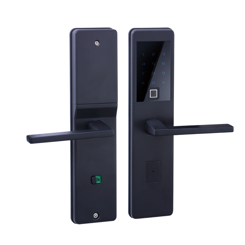 LACHCO 2018 Bluetooth Biometric Electronic Door Lock APP,Smart Fingerprint, Code, Key Touch Screen Digital  door Lock L18025FB