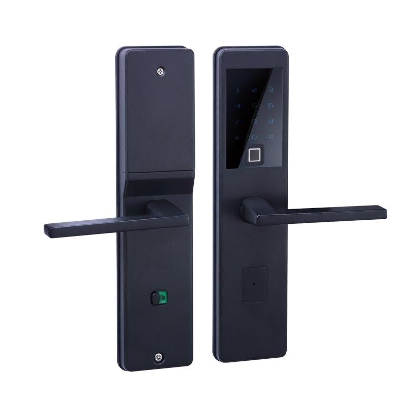 LACHCO 2018 Bluetooth Biometrico Serratura Elettronica Della Porta di APP, Intelligente di Impronte Digitali, il Codice, chiave di Tocco Dello Schermo di Digital door Lock L18025FB