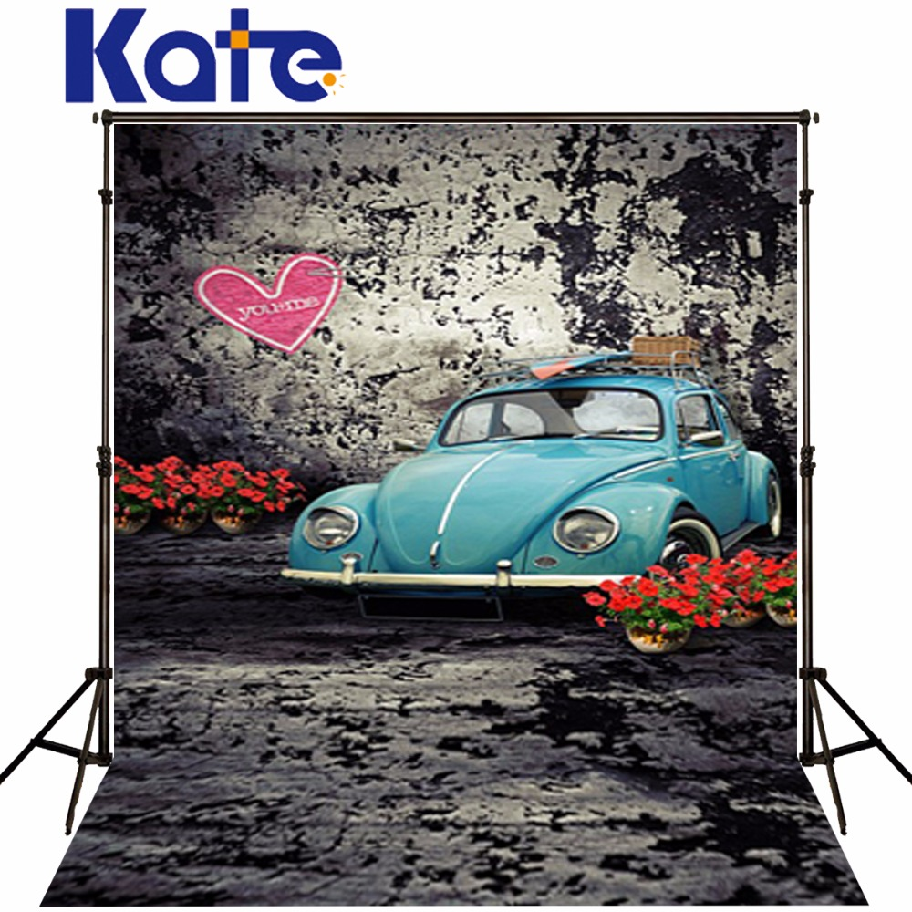 Kate Digital Printing Photo Backgrounds Retro Brick Wall Photography Backdrops Old Car Camera Fotografica Profissional Lk 1474 600cm 300cm backgrounds single wall folds of cloth worn photography backdrops photo lk 1439