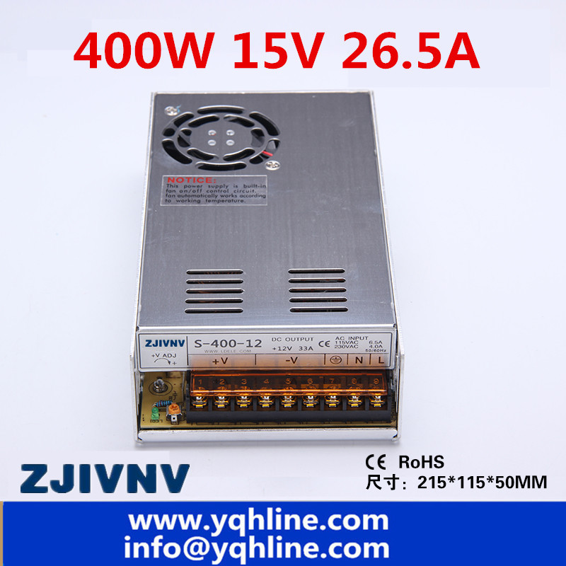 S-400W fonte ac-dc 15V 26.5a industrial switched power supply source for CCTV Camera LED Strip Light CNC 3D Print (S-400-15) недорго, оригинальная цена