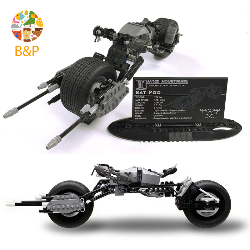 lepin Legoing 5004590 358pcs Super Heroes series The Batman Motorcycle Model Building Blocks Toys For Children Gift 07061 single sale super heroes transparent predator the movie series one eyed alien building blocks for children gift toys kf812
