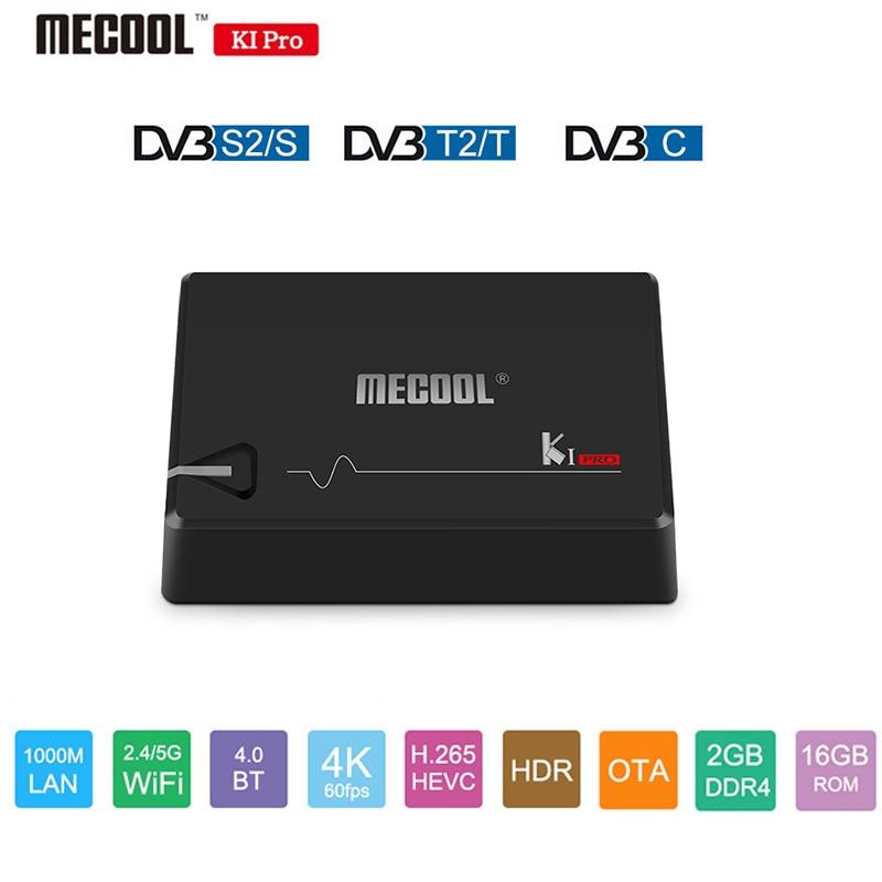 MECOOL KI PRO Android 7.1 Smart TV Box Amlogic S905D Quad Core 64 peu DVB T2 S2 C Quad Core 1000 m BT4.1 2g/16g Set Top Box