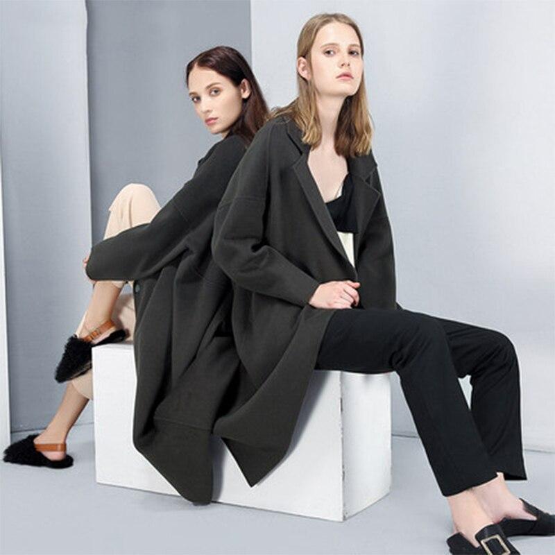 Vintage Nouvelle Produits 2018 Plus made Des Style Taille Et Main La Manteaux Femmes Printemps Simple Monochrome Long Parkas Liste À D'hiver Lâche 44Y1xg