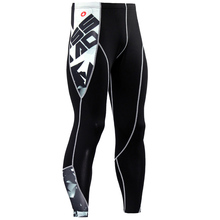 Hot 3D printing sports compression pants running mens jogging tight leggings gym fitness