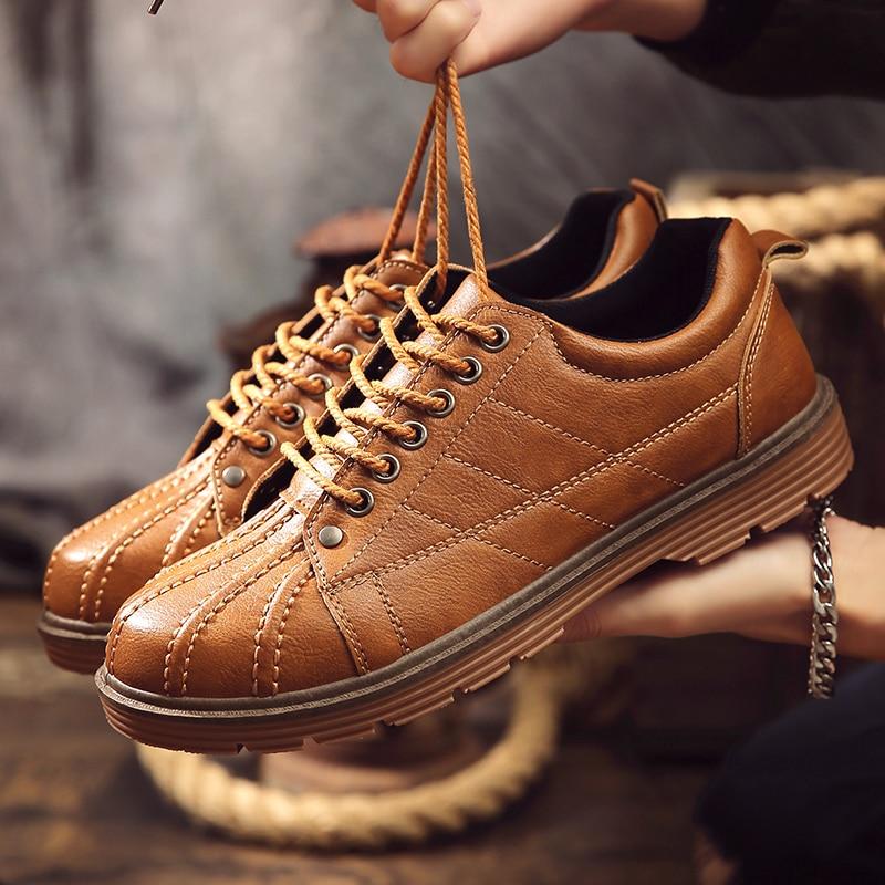 Confortable Nouveau Hommes Chaussures Black Loisirs L'été Respirant Jeunes Simples Vêtements Résistant L'usure Travail De chaussures Chaussures brown Style Des À Martin orange ISqrYIPw