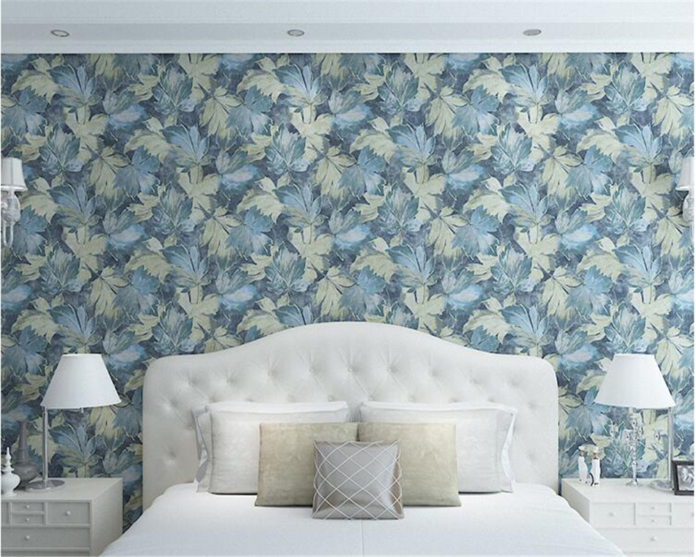 beibehang Fashion TV background wall paper leaf leaf nonwoven papel de parede 3d wallpaper modern simple wallpaper bedroom beibehang european style fine nonwoven fabric imitation papel de parede 3d wallpaper bedroom background simple plain wall paper
