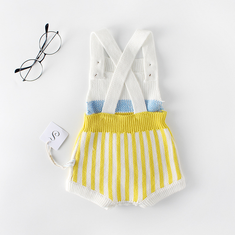 82270a8b894b 2018 Baby Girls Boys Striped Baby Infant Knitted Wool Romper Suit ...