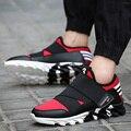 Роскошные Обувь Для Мужчин Открытый Прогулки Повседневная Обувь Zapatillas Chaussure Массаж шнуровке Студенты Обувь Мужчины Квартиры Новая Мода 2016
