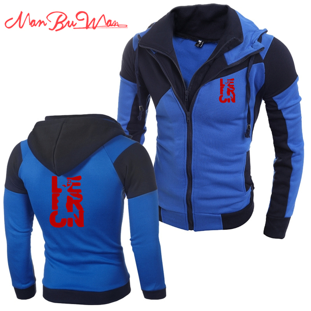 2a0c74094d6 US $18.94 |LeBron James Hot Fashion Men's Slim Autumn and Winter Zipper  Hooded Cardigan Splicing Fake Personality Color Double Jacket (23)-in  Hoodies ...