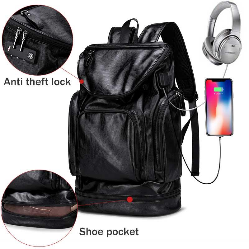 Anti Theft Lock Men s Backpacks Casual Bagpack USB Charge Men Backpack Travel Bags Backpacks for