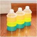Bebé conveniente Tazas de Almacenamiento De Alimentos Caja de Almacenamiento de Leche En Polvo 3 Capas Contenedor de Alimentos Productos de Alimentación Del Bebé Botella de Alimentación TH09