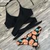 Sexy Criss Cross Bikini 2017 Bandage Brazilian Swimsuit Women Padded Swimwear Bikini Set Wrap Top