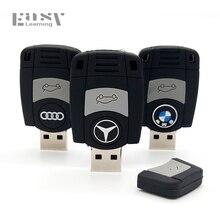 Easy Learning Cartoon USB 2.0 Car Key Usb Flash Drives For BMW Pen Drive 4GB 8GB 16GB 32GB 64GB Memory Stick For Audi Pendrives
