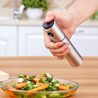 Stainless Steel Seasoning Bottle Spice Jar Injection Bottle Kitchen Accessories Barbecue Supplies Cooking Tool Oil Sprayer