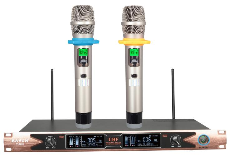 Y-8200 wireless microphone, two channels home KTV conference, Karaok wireless microphone