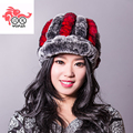 SALE price autumn and winter rex rabbit fur hat and cap for women Genuine rabbit fur hat